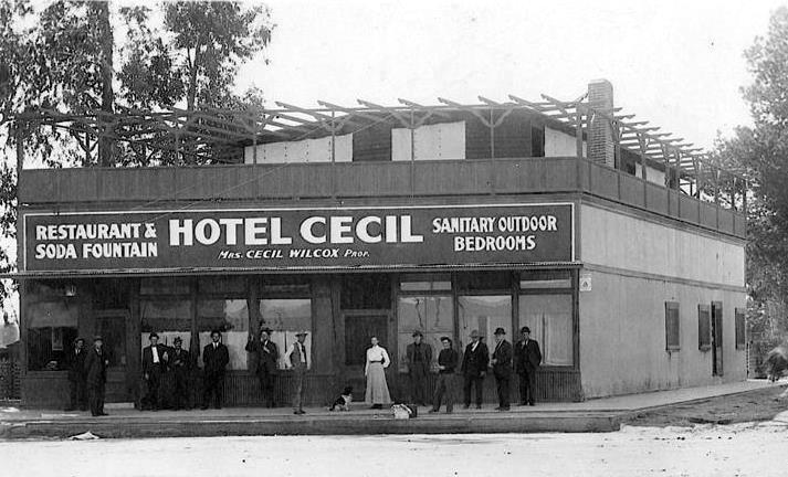 It was one of the first hotels in the San Fernando Valley. Pictured in the  center is the owner, ... - Water And Power Associates