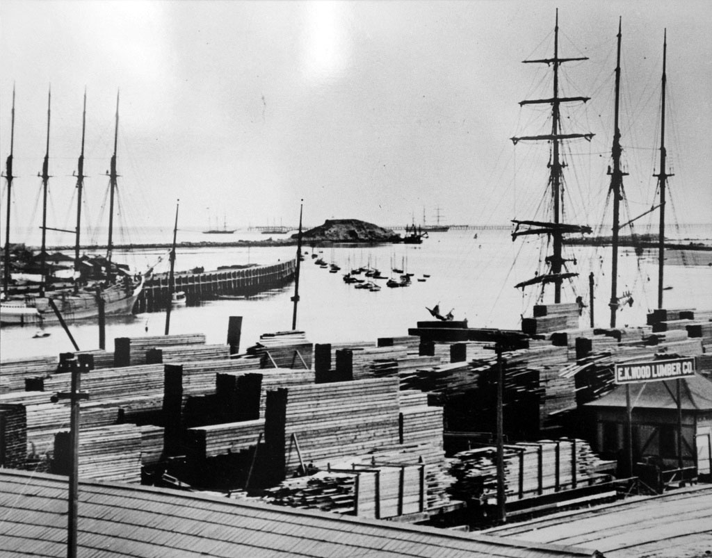 Water And Power Associates 1974 Vw Bug Wiring Harness 1880s View Of Stacks Lumber Sitting On The Shore Waiting To Be Transported Los Angeles
