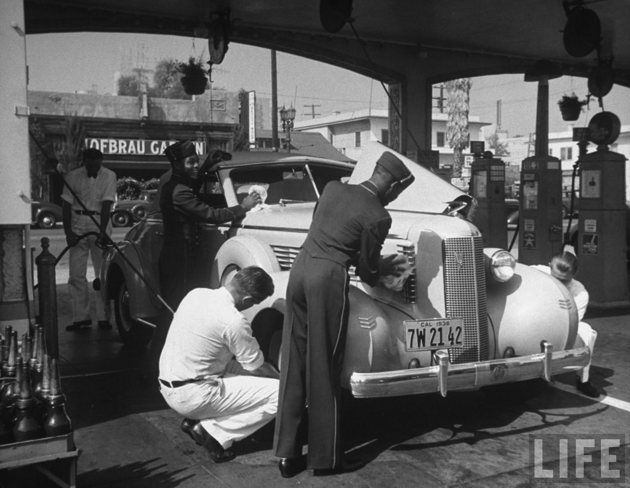 When Stock Cars Ruled Nascar Why They Left 14848 further Trucks018 also Unsung Heroes Vintage Garbage also When A Chinese American Woman Broke The SFPD 10813823 in addition Early Views of Hollywood  1920    Page 2. on 1950 truck ads