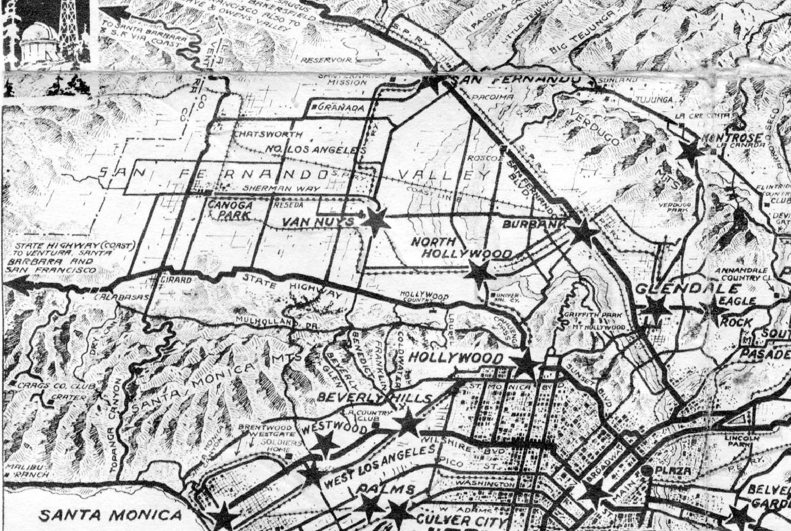 Water And Power Associates - Los angeles ventura map