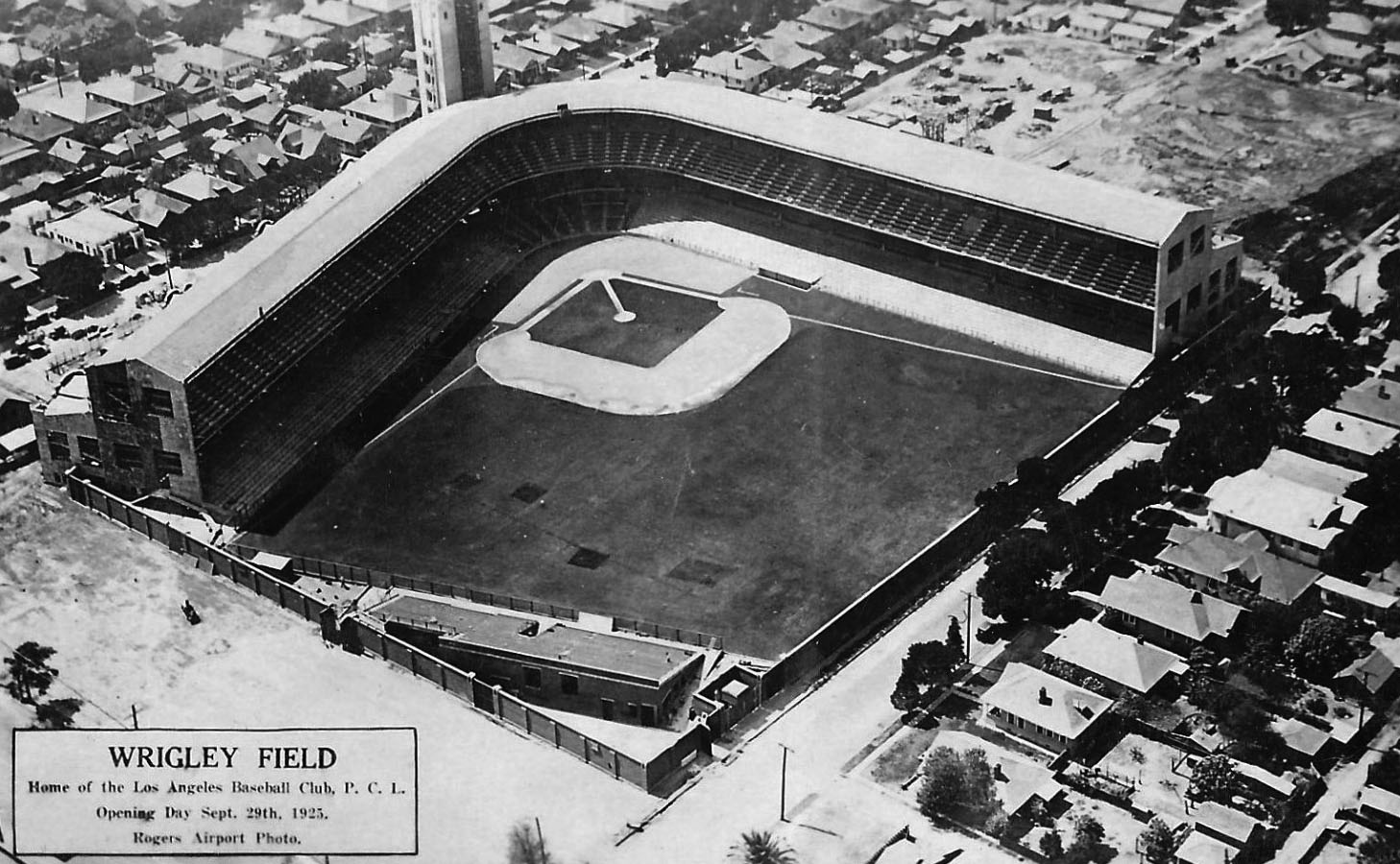 4c032b0b92b (1925)^^* - View of Wrigley Field on opening day, September 29, 1925, as  seen before the stadium was filled.
