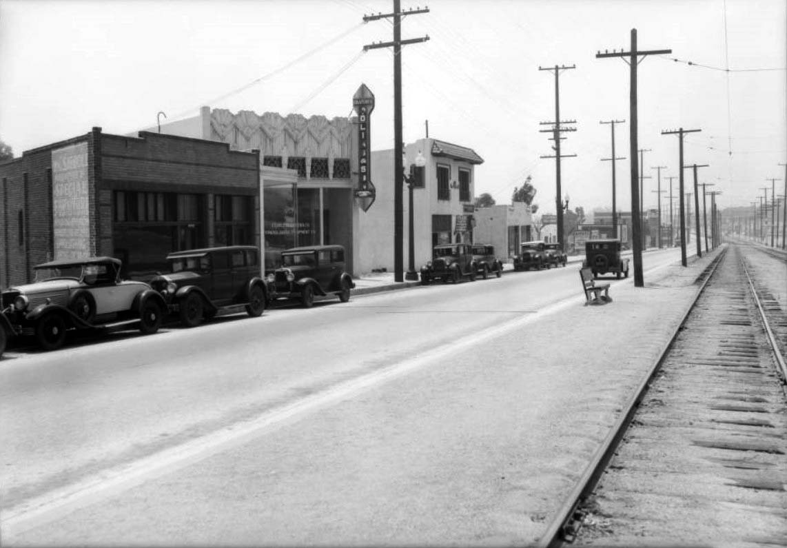 Water And Power Associates Headlight Wiring Diagram 95 Rodeo Ca 1933 View Looking Southwest On The 8500 Block Of Santa Monica Boulevard Between San Vicente La Cienega Boulevards In West Hollywood