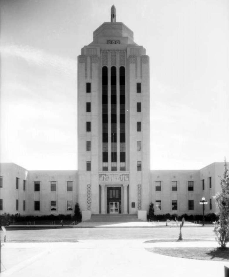 (1933)^^   Front View Of Van Nuys City Hall, Also Known As The Valley  Municipal Building, As Seen From Across Sylvan Street.