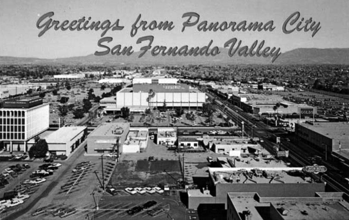 (1960s)+##   Postcard View Looking North Showing The New Panorama City  Shopping Mall. The Intersection Of Roscoe And Van Nuys Bouelvards Is At  Center Right.