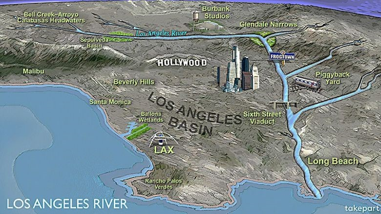 Water And Power Associates - Los angeles river map
