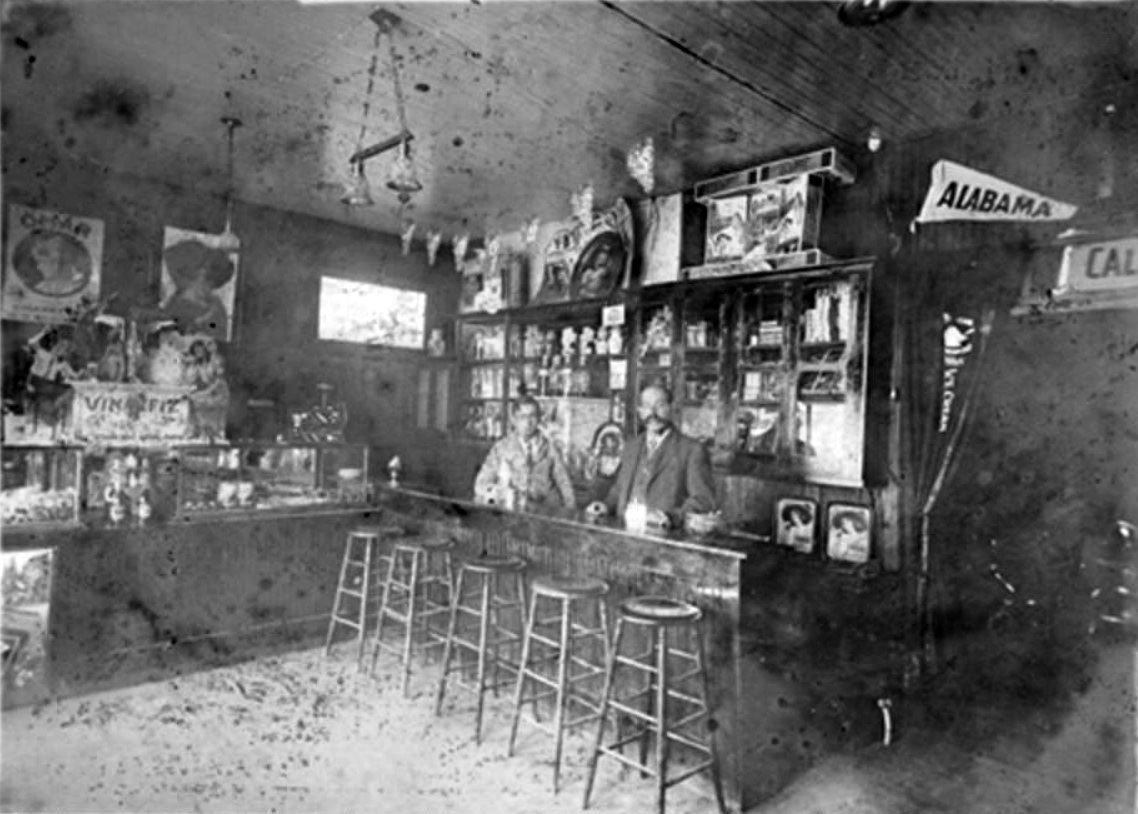 35bed872ab 1900)  - Interior view of an ice cream parlor located on Maclay Avenue  between 1st and 2nd Streets in San Fernando. Nathaniel Pico (son of  Benjamine and ...
