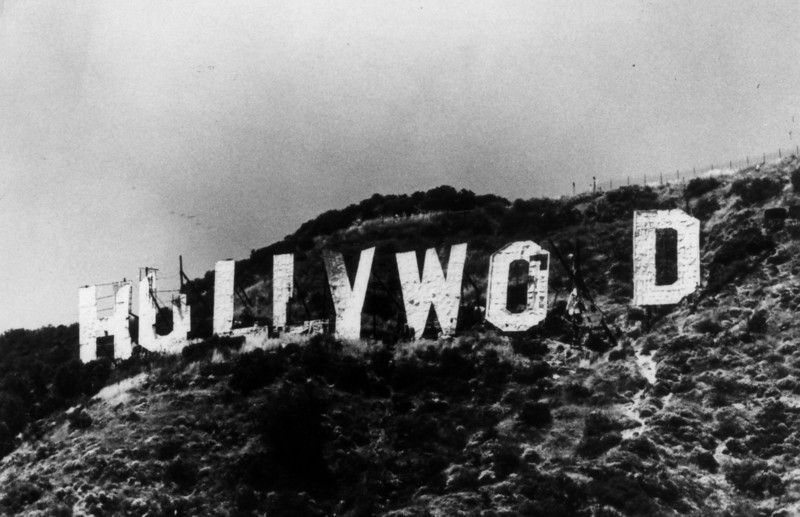 1970s    - View of the Hollywood Sign in disrepair during the 1970sHollywood Sign 1970s