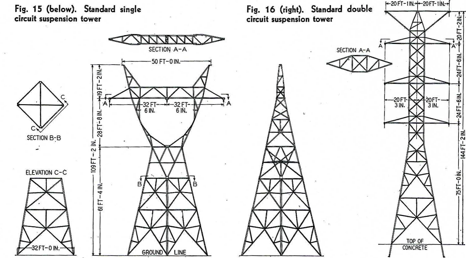 New Transmission Tower Design for the Boulder Dam-LA Transmission Line  (1935)^^