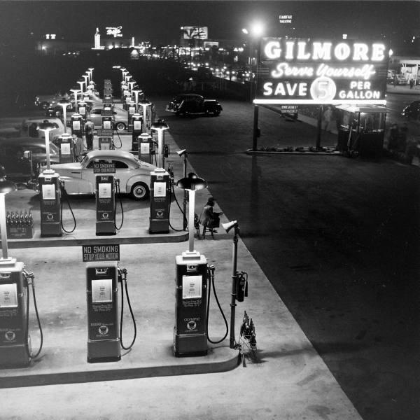 Gilmore service station benzinska postaja stanica pumpa