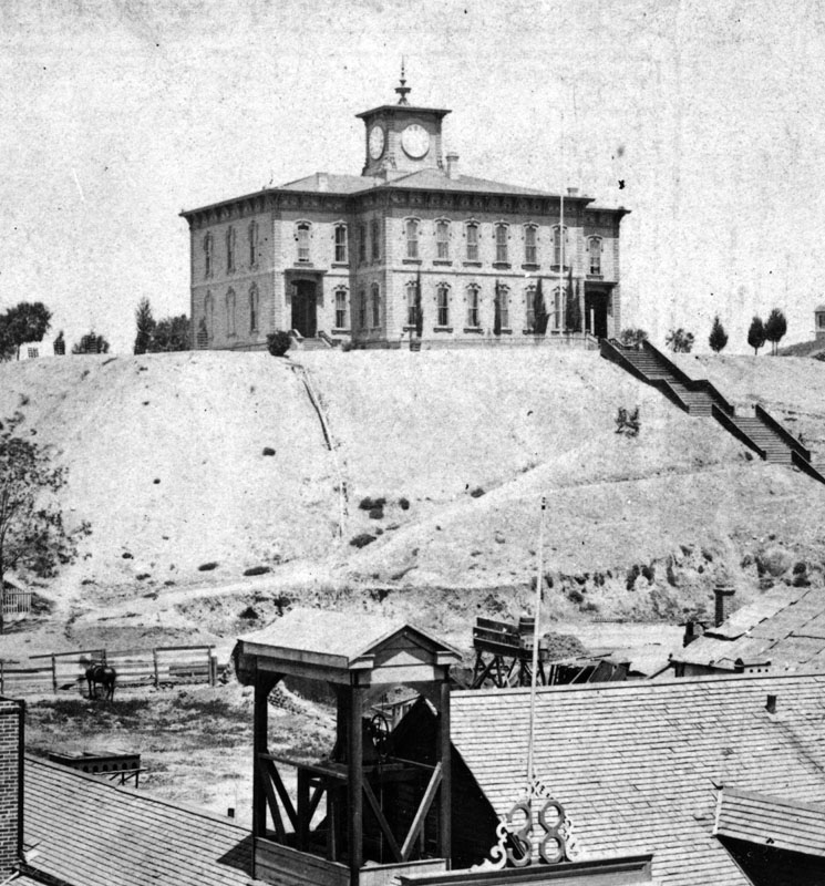 1870s)^ - The first Los Angeles High School was built in 1873, with Dr. Lucky as principal. The corner stone was laid July 19, 1872. Cost was $19,000.