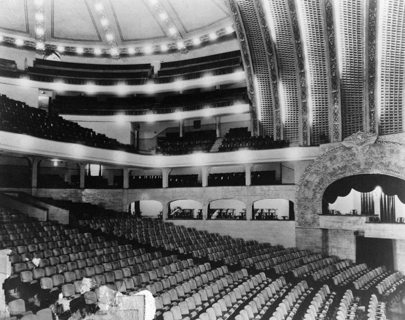 Ca 1920s Interior View Of The Auditorium Inside The