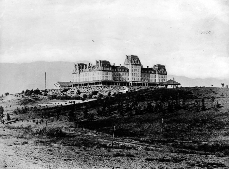 1886 View Of The Raymond Hotel Looking Across Grounds At Western Facade Sans Landscaping Located In South Pasadena